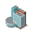 Office building isometric vector image vector image
