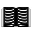 open book icon simple style vector image vector image