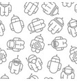 original robot droid seamless pattern vector image vector image