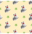 pattern with a funny cute rabbits vector image vector image
