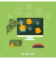 Pay per click internet advertising model when the vector image