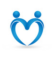 people forming a heart concept logo vector image vector image