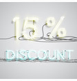 percentage of discount vector image