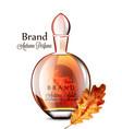 perfume vial realistic grapes flavor vector image vector image