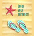 poster for summer beach vacations holidays vector image