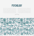 psychological help concept with thin line icons vector image vector image