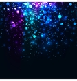 rainbow glowing light glitter background vector image vector image