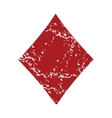 Red grunge diamonds card logo vector image vector image