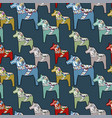 seamless pattern painted horses vector image