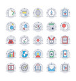 seo and marketing colored line icons 2 vector image vector image