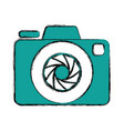 shutter camera symbol vector image vector image