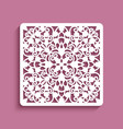 square panel with lace pattern vector image vector image