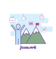 teamwork technology communication social media vector image