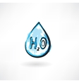 water drop grunge icon vector image