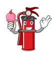 with ice cream fire extinguisher character cartoon vector image