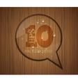 Wood Texture Speech Bubble vector image vector image