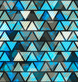 blue triangle grunge seamless pattern vector image