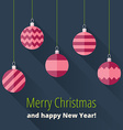 Christmas card with Christmas decoration vector image