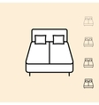 icon of bed vector image
