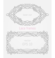 Decorative frames and borders set vector image