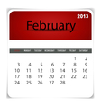 2013 calendar february vector | Price: 1 Credit (USD $1)