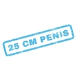 25 cm Penis Rubber Stamp vector image vector image