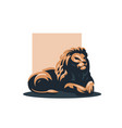 a lion lies vector image