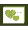 abstract green natural texture heart symbol vector image vector image