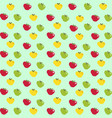 abstract pattern with cartoon apples on light vector image vector image