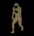 american football player action vector image vector image