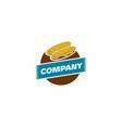 bakery shop logo design element in vintage style vector image