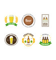 beer badges or labels set vector image vector image