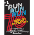 Berlin marathon run poster vector image vector image
