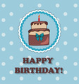Birthday design over blue background vector image