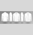 blank male white shirt with tie and bow tie vector image
