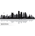 Boston city skyline silhouette background vector image