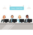 call center characters business customer service vector image vector image
