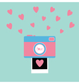 Camera Instant photo in flat design style Pink vector image vector image