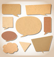 Cardboard speech bubbles set vector image vector image