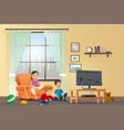 cartoon concept happy children vector image