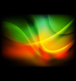 colorful abstract smooth blurred waves background vector image vector image