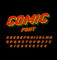 comic font for posters pop art retro game vector image vector image