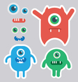 Cute monster designer kit vector image vector image