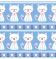 cute seamless with cats vector image vector image