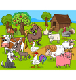 farm animals group cartoon vector image vector image
