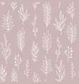 floral pattern with hand drawn branches vector image vector image