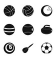 game equipment icons set simple style vector image vector image