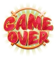 Game over message in cartoon style vector image