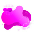 gradient fluid shape isolated on white pink spots vector image vector image
