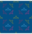 hanger pattern on dark background vector image